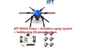 Image 5 - Eft nova atualização e610s 10l agrícola spray drone quadro seis eixo à prova dsix água dobrável drone quadro com x6 sistema de energia uav