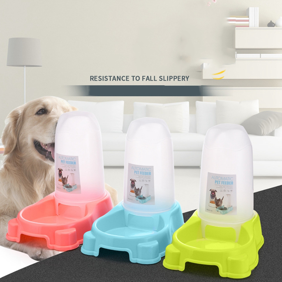 Dog & Cat Automatic Feeder & Sipper Pet Dry Food Water Dispenser Bowl Dish HTL-11