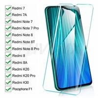 9D Dello Schermo di Vetro di Protezione Sul Redmi 8 8A 7 7A K20 K30 Per Xiaomi Pocophone F1 Redmi Nota 8 8T 7 Pro Temperato Pellicola di Vetro Caso