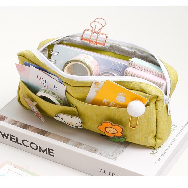 pencil case cute pencilcases material escolar girl back to school supplies piorniki estuche piornik kawaii bag 2020 pencil box