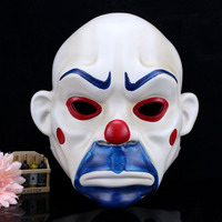 Full Face Joker Bank Robber Mask Clown Batman Dark Knight Scale Cosplay Halloween Prop Masquerade Party Costume Fancy Dress