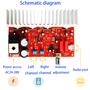 Image 3 - Tenghong TDA7294 Audio Power Amplifier Board 200W*2 HIFI Sound Amplifier For Speakers Stereo Amplificador AC24 28V 2.0 Channel