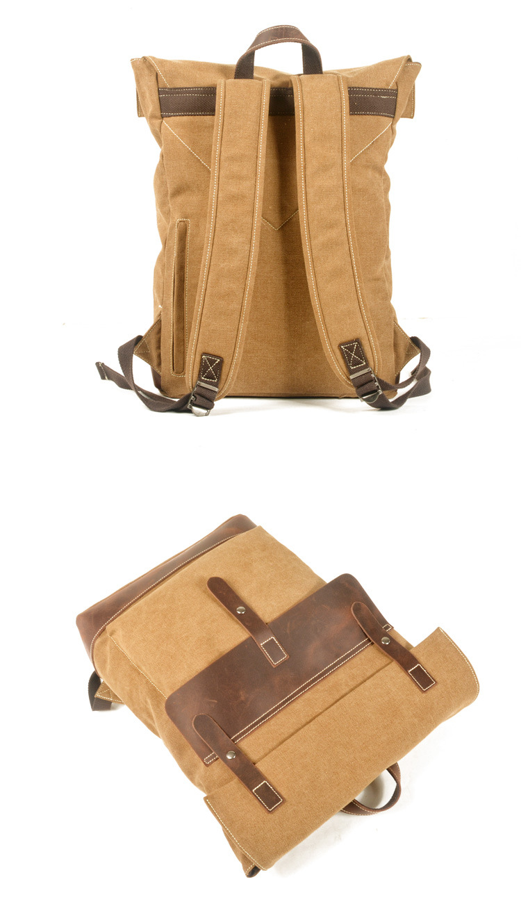 Ретро водонепроницаемый холщовый рюкзак уличный походный большая