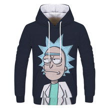 Sweats à capuche Anime Rick et Morty impression 3D sweats à capuche avec chapeau homme sweat à capuche ample Sudaderas Para Homb(China)