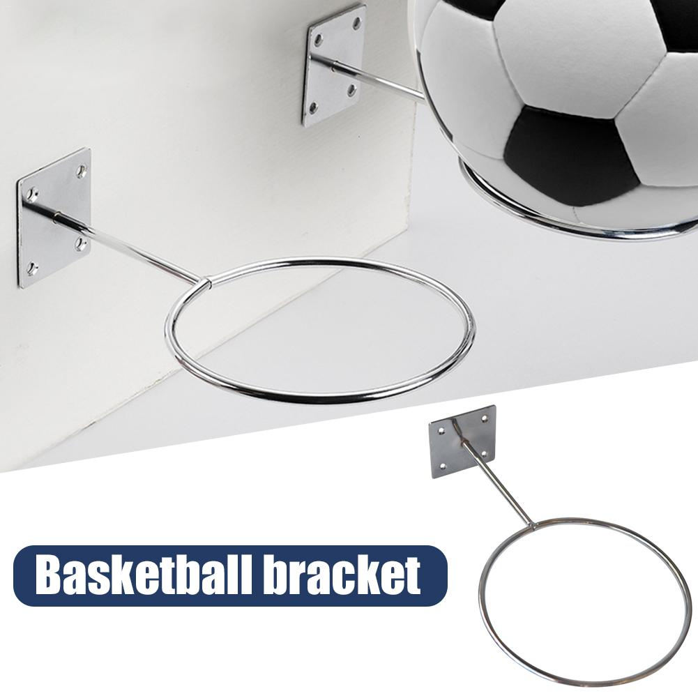 Wall Mounted Sports Ball Holder Rack Display Good Quality Useful Equipment Silver White Quick Delivery