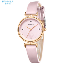 PANMILA P0361M Sample 2019 Relogio Feminino women watches Roman Dial Quartz Ladies Presente Leather Strap Elegant Female Pink