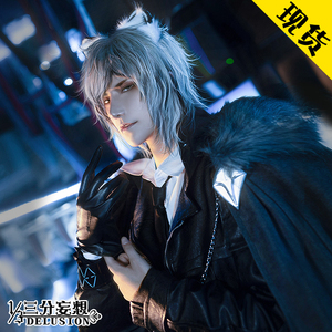 Image 2 - Anime! Arknights SilverAsh Game Handsome Gothic Leather Uniform Cosplay Costume Full Set Halloween Suit For Men Free Shipping