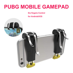 Шесть пальцев управления геймпад триггер для Pubg для iPhone Android Мобильный игровой геймпад управление джойстиками для смартфонов съемка Triger