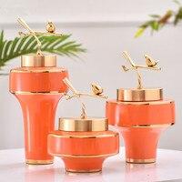 Tabletop Vase Storage Tank Ceramic Craft Figurines Home Accessories Decoration Livingroom Desktop Creative Ornament Wedding Gift