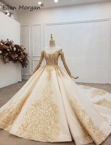 Image 2 - Elegant Off ไหล่ Gowns ชุดแต่งงานลูกไม้ 2020 Real รูปภาพ Beaded Fringe Elegant ชุดเจ้าสาวสำหรับผู้หญิง