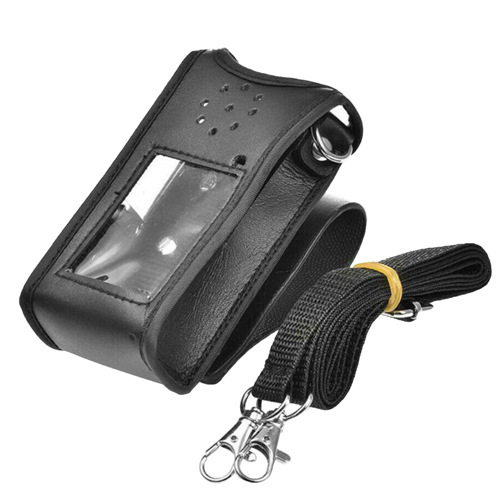Durable Sheath Outdoor Pouch Professional PU Leather Adjustable Protective Cover Belt Walkie Talkie Buckle Waist For BF-UV9RPLUS