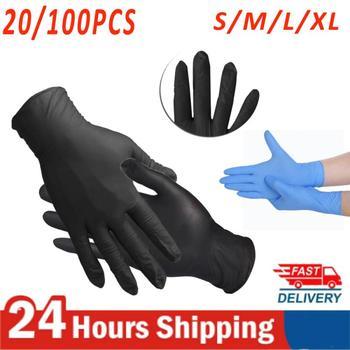 20/100Pcs Food Plastic Safe Disposable Gloves For Restaurant Kitchen Eco-friendly Food Fruit Vegetable Gloves Cleaning Tools 1