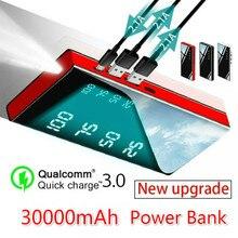 Внешний аккумулятор 30000 мАч, портативное зарядное устройство, внешний аккумулятор 2,1 А, для всех смартфонов, IPad, Galaxy и многое другое