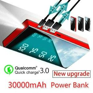 Image 1 - Power Bank 30000mAh Tragbare Ladegerät Power Bank mit 2,1 EINE Externe Batterie für Alle smartphones IPad & Galaxy & mehr