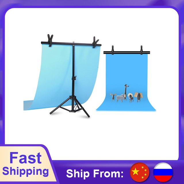 Aluminum Tripod with Cross Bar for Background Supporting T Shape Stand PVC Backdrops Holder 40cm 200cm Extendable Height Width