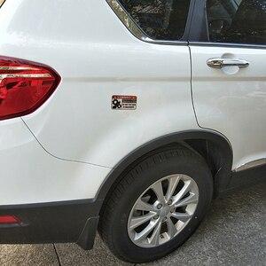 Image 5 - YJZT 10,4 CM * 5,5 CM Lustige Warnung In Maschinen Auto Aufkleber Reflektierende PVC Aufkleber 12 1172