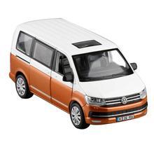 Coche de simulación MPV VW T6 MULTIVAN para niños, juguete de aleación extraíble, regalo de colección de licencia auténtica, vehículo todoterreno, 1:32