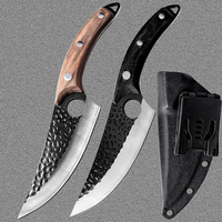 Stainless Steel Kitchen Boning Knife Handmade Fishing Knife Meat Cleaver Outdoor Cooking Cutter Butcher knife Cutter 1