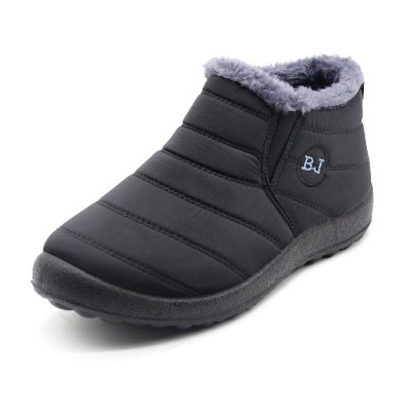 Men Boots New Fashion Winter Boots For Men Fur Winter Snow Boots Plush Mans Footwear Keep Warm Waterproof Men Shoes Plus Size