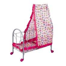ABS Kunststoff Baby Krippe Wiege Bett Simulation Möbel Spielzeug Reborn Puppe für MellChan Baby Puppe Kinder Kinder Rolle Spielen