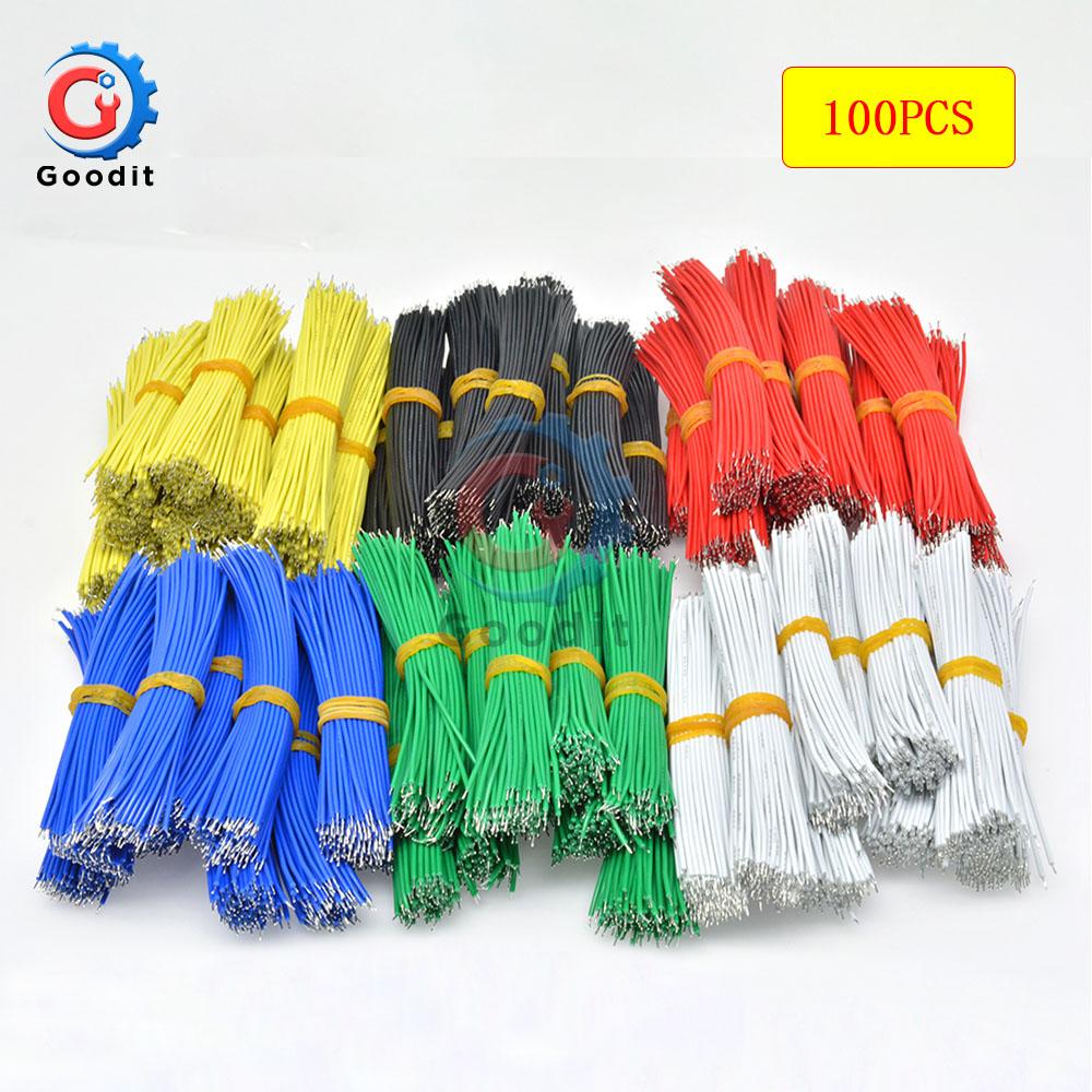 100PCS/LOT Tin-Plated Breadboard PCB Solder Cable 24AWG 10cm Fly Jumper Wire Cable Tin Conductor Wires 1007-24AWG Connector Wire