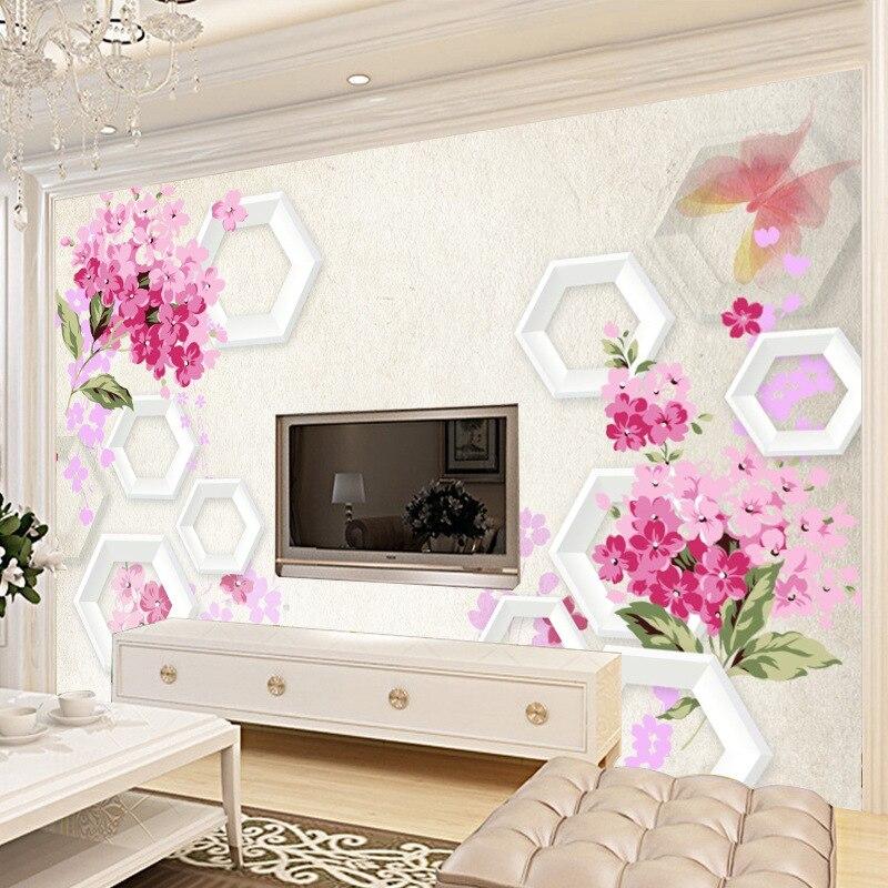 3D ТВ фон для гостиной телевизионная стена 3D Нетканая ткань диван обои бесшовные Обои фреска индивидуальные фоновые стены