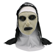 Horror Nun Mask Costume Halloween Clothes Scary Zombie Ghost Costumes for Women Creepy Demon Party Props