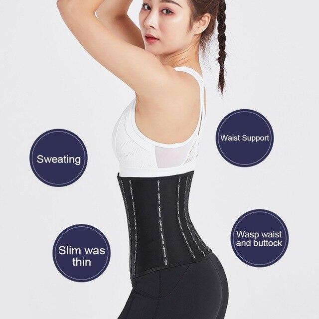 Women Body Shaper Waist Cinchers Back Support Sweat Crazier Slimming  Silver Ion Material Belt-Sport Girdle Belt For Weight Loss 4