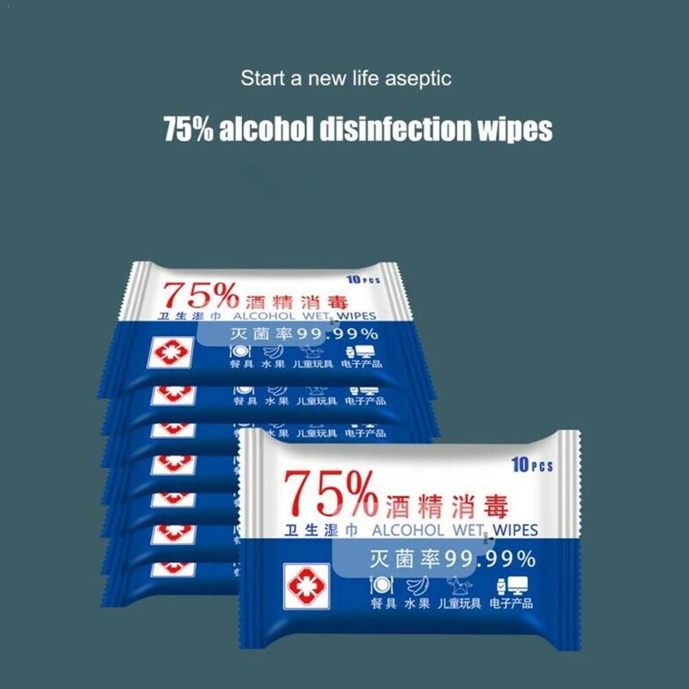 Disinfection Portable Alcohol Swabs Pads Wipes Antiseptic Cleaning Home First Aid Sterilization Cleanser T9I0