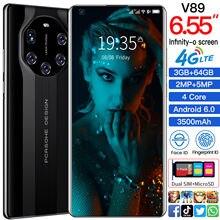 Novo telefone cectdigi mate40 rs 7.3 polegada 1440*3200 3gb + 64gb duplo sim + microsd 5800mah android 6.0 face dedo id 4g smartphone