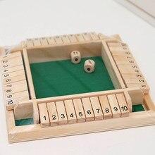Deluxe quatro lados 10 números fechado a caixa jogo de tabuleiro conjunto dice bar festa bebendo jogos para adultos famílias entretenimento em casa