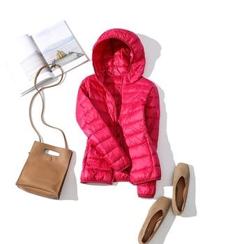 New Brand 90% White Duck Down Jacket Women Autumn Winter Warm Coat Lady Ultralight Duck Down Jacket Female Windproof Parka 28