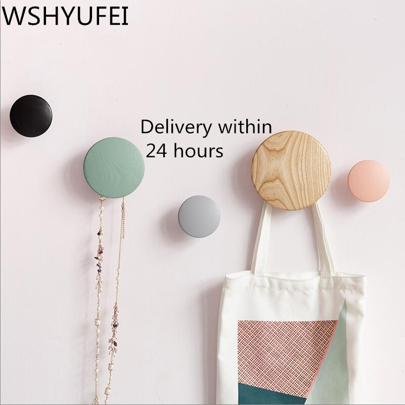 Wall Clothes Hanger Coat Wood Coat Rack Garden Round Mushroom Hook Hook Wall Hanger Wooden Coat Hooks Pretty Home Decoration