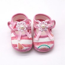 3 Styles Little Princess Canvas Baby Shoes Baby Girl Floral Print Soft-Soled Crib Shoes Flower insert prewalkers(China)