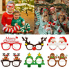 9pcs Merry Christmas Glasses Photo Booth Prop Santa Snowman Frame Glasses Xmas kids Gifts Christmas Decorations 2020 New Year