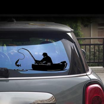 Fashion Fishing Fish Boat Pattern Truck Car Stickers Window Decals Decoration image