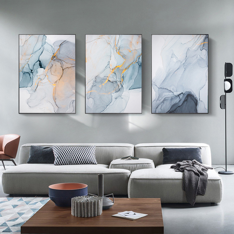 Marble Texture Nordic Canvas Painting Modern Home Poster and Print Wall Picture for Living Room Abstract Scandinavian Wall Art