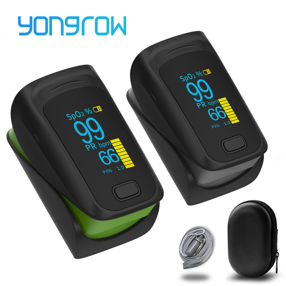 Yongrow Medical Portable Digital OLED Finger Pulse Oximeter Blood Oxygen Saturation Monitor Health Care Measure