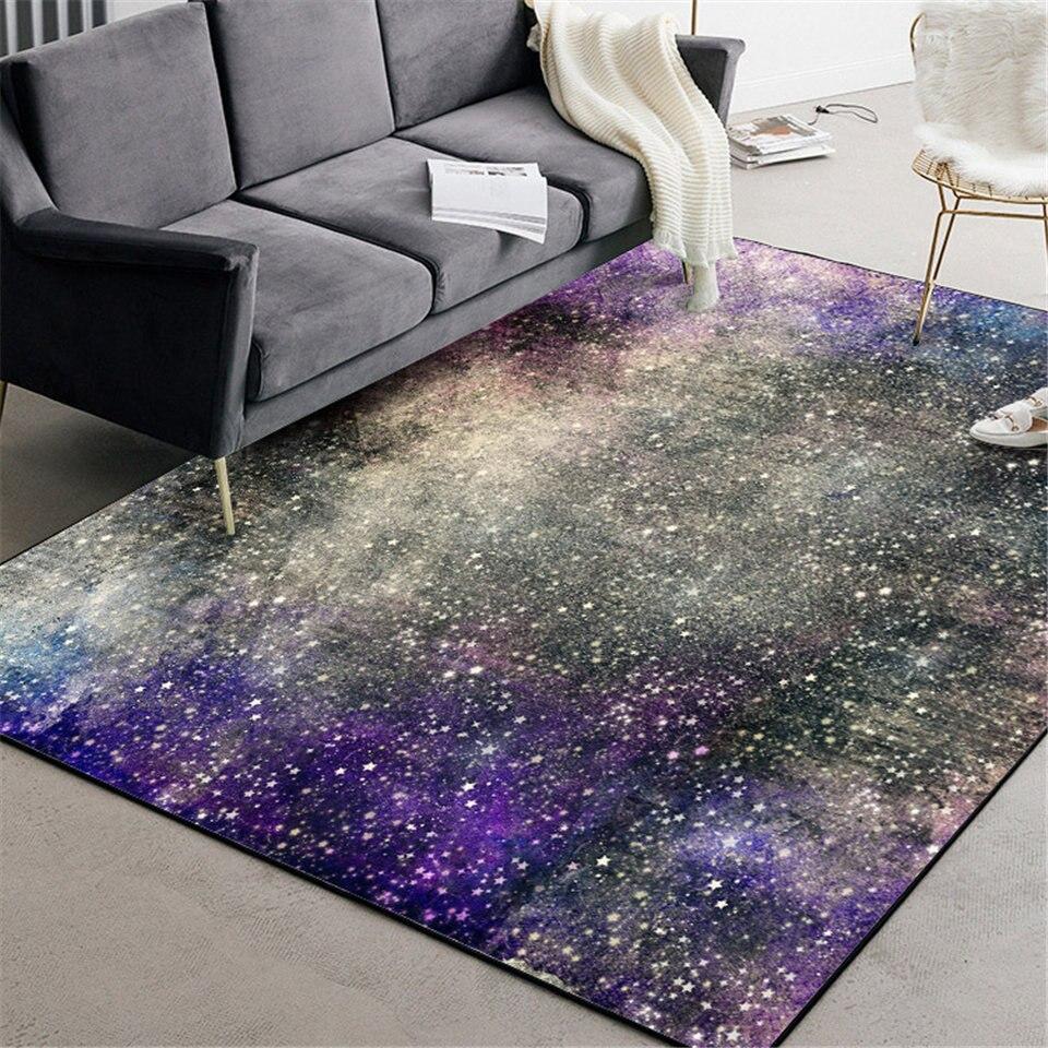 Wishstar Purple Star Sky Modern Living Room Carpet Girl Bedroom Beside Rug Decoration Carpet With Stars Kitchen Rugs Hallway Mat