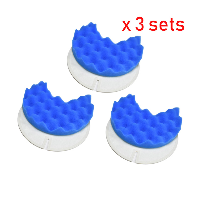 3sets Foam & Hepa Filter For Samsung DJ97-00849A DJ97-00849B DJ97-01363A DJ97-00338C SC8400 Vacuum Cleaning Filters Replacement