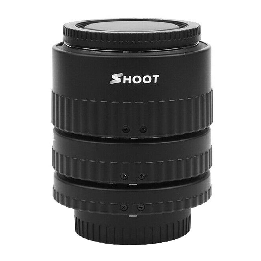 Macro anneau ouverture réglable 12 20 36mm adaptateur d'objectif Extension Tube Set caméras en plastique Portable mise au point automatique AF pour Nikon
