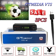 Hot DVB-S2 Freesat V7 hd With USB WIFI FTA TV Satellite receiver by  Europe cccam cline Network Sharing gtmedia v7s hd tv box cccam cline europe dvb s2 freesat v7 satellite tv receiver set top box dvb s2 support powervu cccam youporn with usb wifi