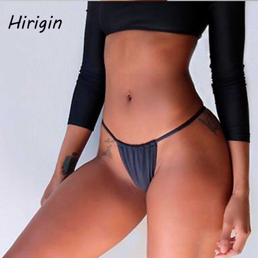 Black Bikini Bottom Summer Hot Women Swimwear Brazilian Bikini Bottom Side String Tie Thong Bathing Swimsuit Bikini Underwears