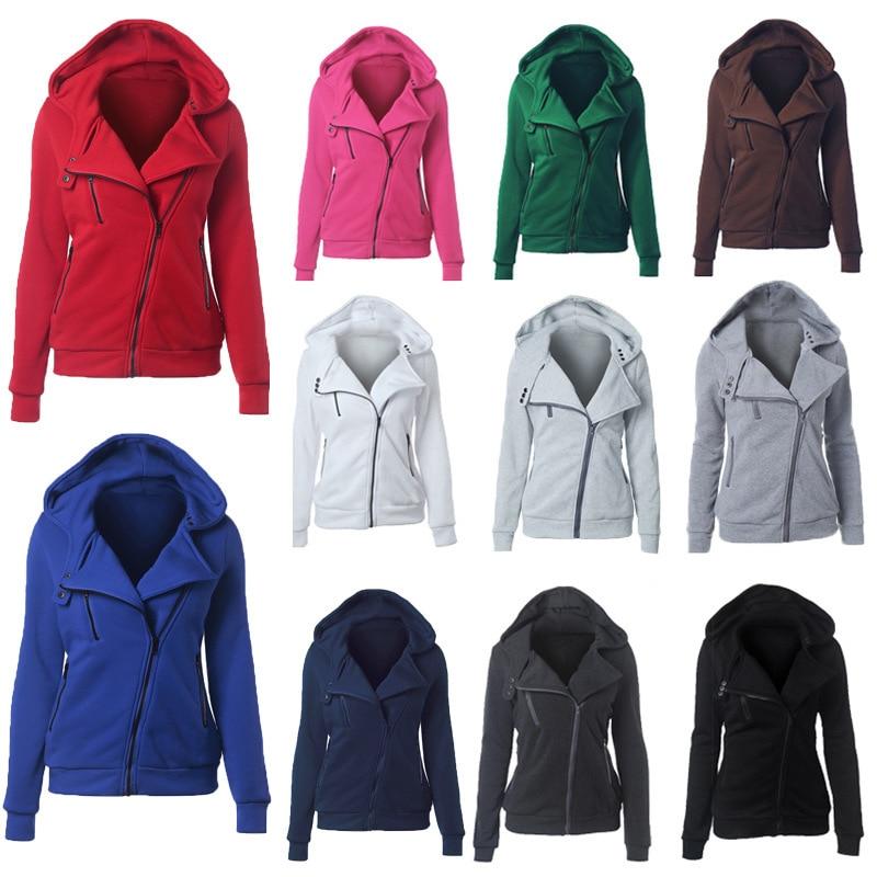 oversize 2020 Zipper Hoodies Women Jackets Hoody Jumper Overcoat Outwear Female Sweatshirts Warm Fashion Long Sleeve Hoodies 2