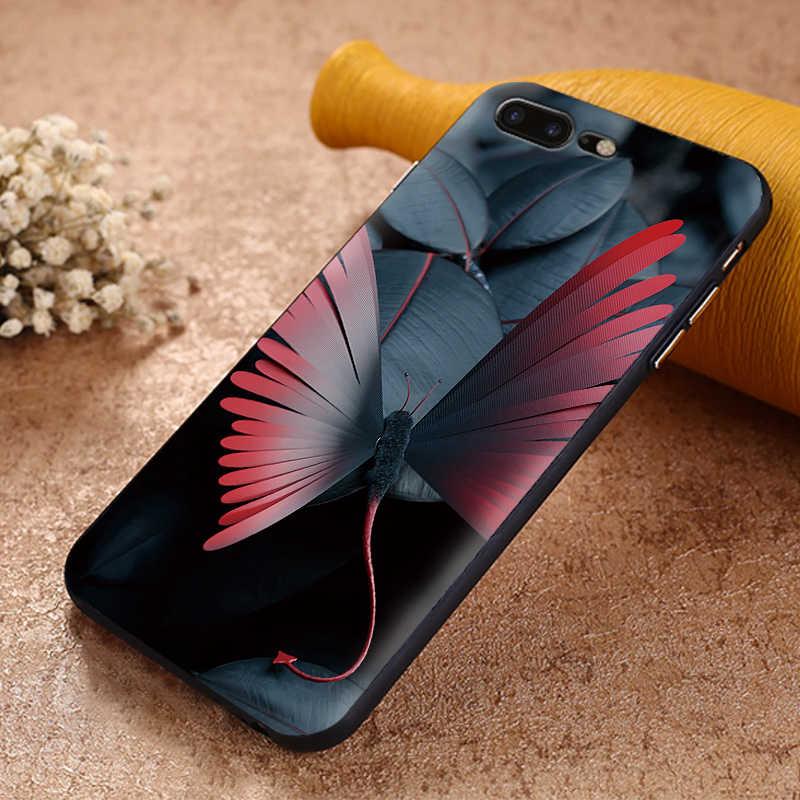 Antiurto Caso Molle di TPU Per Il IPhone 11 Pro X 6 6s 7 8 Più Sveglio Della Copertura animale ape arte XS X Xr XS Max 9 Del Silicone Coque Capa