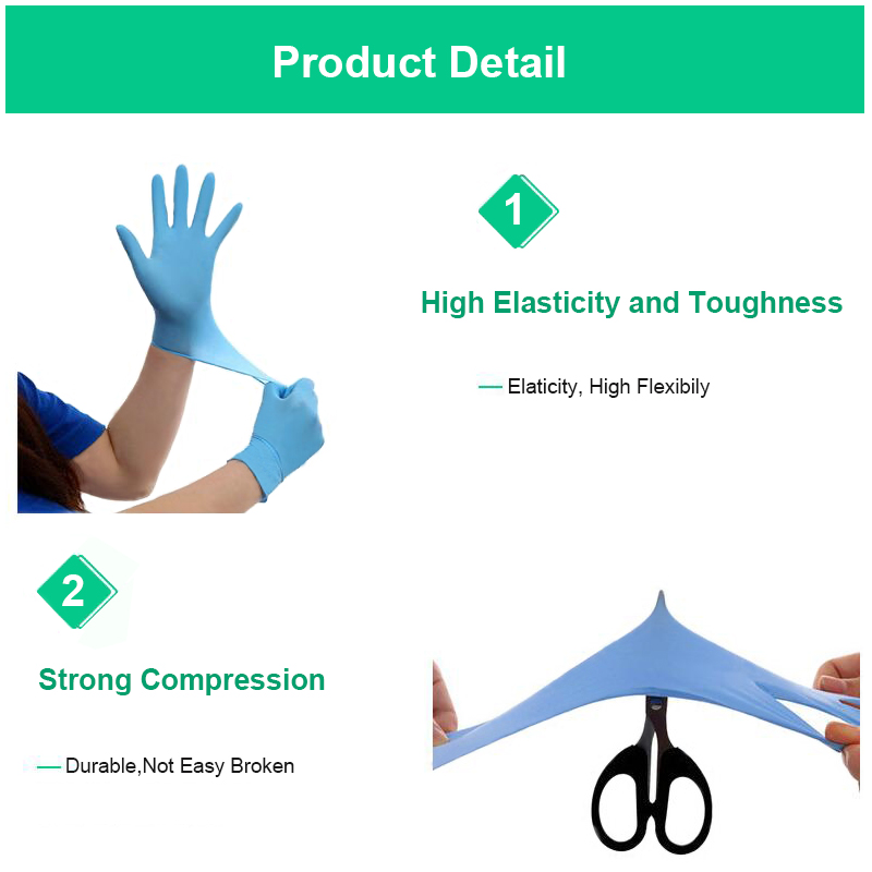 Image 3 - 100 pcs thickness disposable nitrile Gloves work glove Food Prep Cooking Gloves / Kitchen Food Service Cleaning Gloves safetySafety Gloves   -