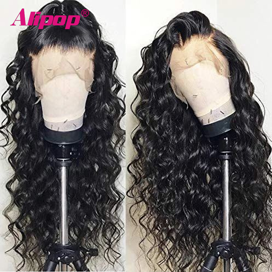 Alipop Glueless 13x6 Lace Front Human Hair Wigs For Women Brazilian Body Wave Pre Plucked Remy Lace Front Wig 250% Density