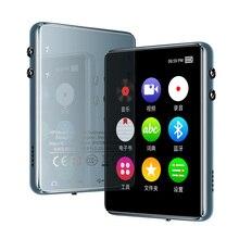 Полный сенсорный экран Bluetooth MP3 плеер 8 Гб 16 Гб музыкальный плеер с fm-радио видео плеер проигрыватель электронных книг MP3 с динамиком