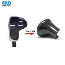For Audi A4 A5 Q5 A6 S6 A7 S7 Q7 Carbon Fiber Gear Shift Knob Cover 2013 2014 2015 2016 2017  for audi a4 a5 q5 a6 s6 a7 s7 q7 carbon fiber gear shift knob cover fit left