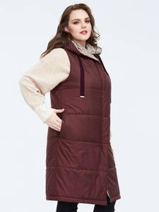 Куртка Astrid Женская, двусторонняя, теплая, тонкая, хлопковая, без рукавов, AM-7504, 2020